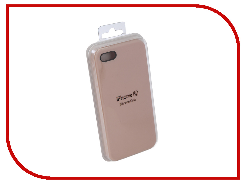 Аксессуар Чехол Innovation Silicone Case для APPLE iPhone 5G/5S/5SE Dark Pink 10615 аксессуар чехол innovation jeans для apple iphone 7 8 white 10774