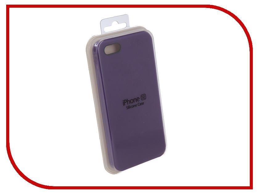 Аксессуар Чехол Innovation Silicone Case для APPLE iPhone 5G/5S/5SE Lilac 10614 аксессуар чехол innovation ракушка silicone для apple iphone 5g 5s 5se black 11033
