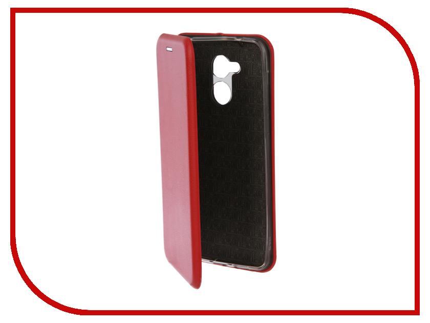 Аксессуар Чехол-книга для Huawei Honor 6C Innovation Book Silicone Red 12192 аксессуар чехол для samsung galaxy a5 2017 innovation book silicone red 12147