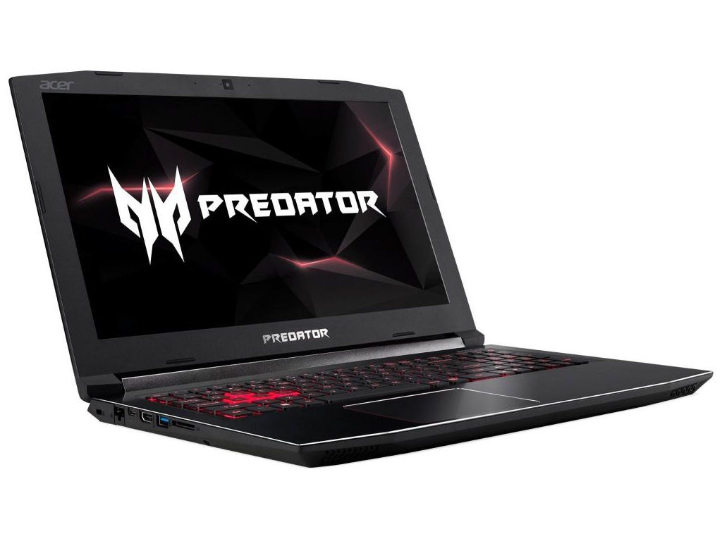 Ноутбук Acer Predator Helios 300 PH315-51-59DH Black NH.Q3FER.007 (Intel Core i5-8300H 2.3 GHz/16384Mb/1000Gb+128Gb SSD/nVidia GeForce GTX 1060 6144Mb/Wi-Fi/Bluetooth/Cam/15.6/1920x1080/Windows 10 Home 64-bit)