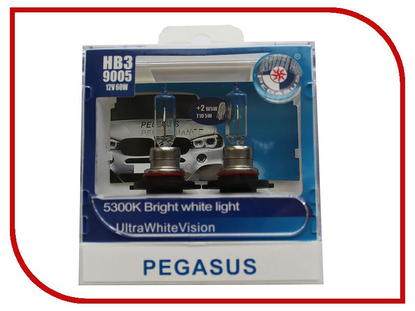Лампа Pegasus HB3-9005 + габариты T10 12V 65W (4 штуки)