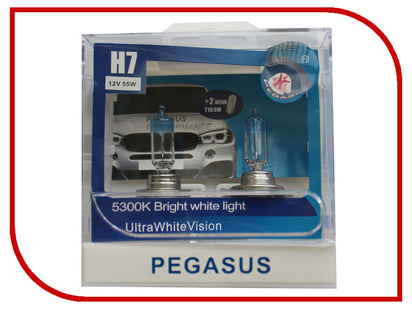 Лампа Pegasus H7 + габариты T10 12V 55W (4 штуки)