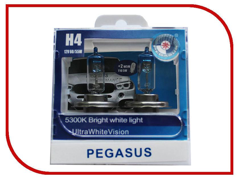Лампа Pegasus H4 + габариты T10 12V 60/55W P43T (4 штуки)