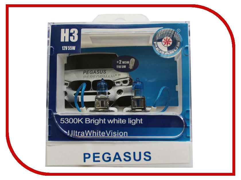 Лампа Pegasus H3 + габариты T10 12V 55W (4 штуки)