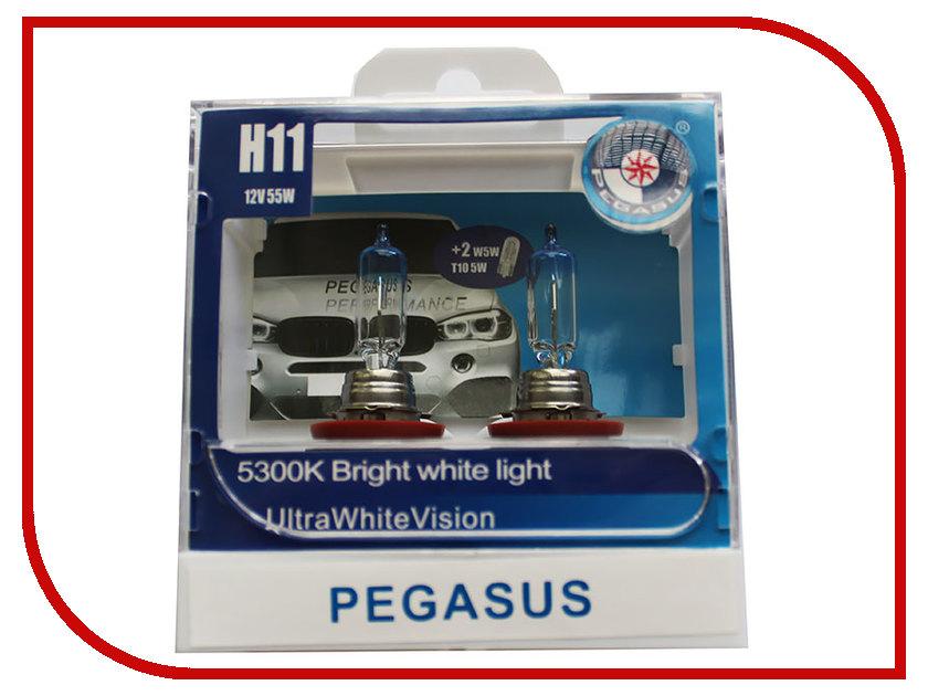 Лампа Pegasus H11 + габариты T10 12V 55W (4 штуки)