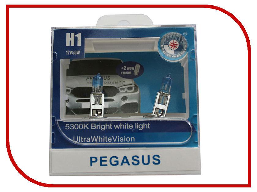 Лампа Pegasus H1 + габариты T10 12V 55W (4 штуки) лампа skyline h1 12v 55w 3800k ultra white 2 штуки