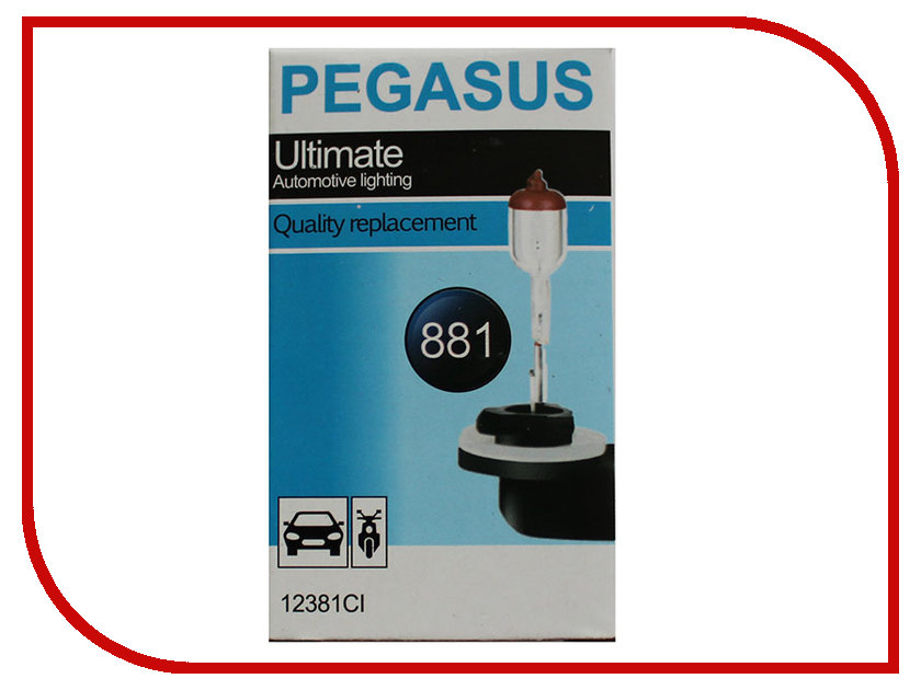 Лампа Pegasus H27-881 12V 27W