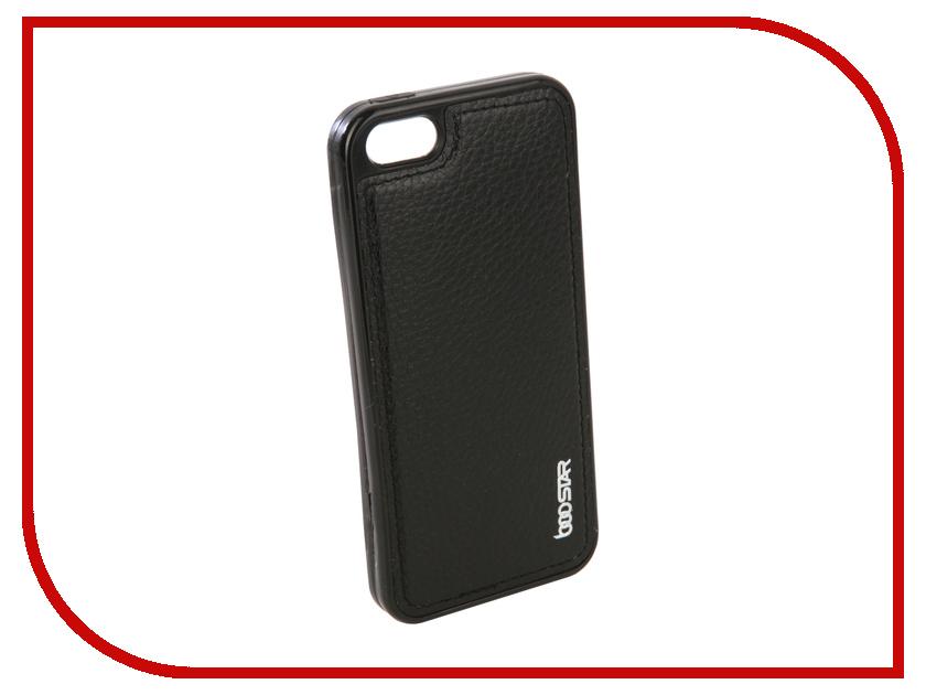 Аксессуар Чехол + защитное стекло Innovation Boostar для APPLE iPhone 5/5S/5SE Black 11752