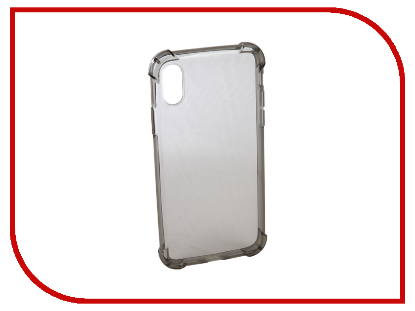 Аксессуар Чехол для APPLE iPhone X Innovation Silicone Black 12214 аксессуар чехол innovation ракушка silicone для apple iphone 5g 5s 5se black 11033