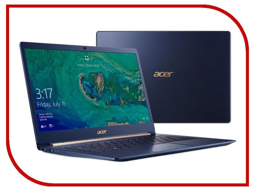 Ноутбук Acer Swift 5 SF514-52T-53MB Blue NX.GTMER.001 (Intel Core i5-8250U 1.6 GHz/8192Mb/256Gb SSD/Intel HD Graphics/Wi-Fi/Bluetooth/Cam/14.0/1920x1080/Touchscreen/Windows 10 Home) моноблок acer aspire u27 880 dq b8ser 002 intel core i5 7200u 2 5 ghz 8192mb 1000gb intel hd graphics wi fi cam 27 1920x1080 windows 10