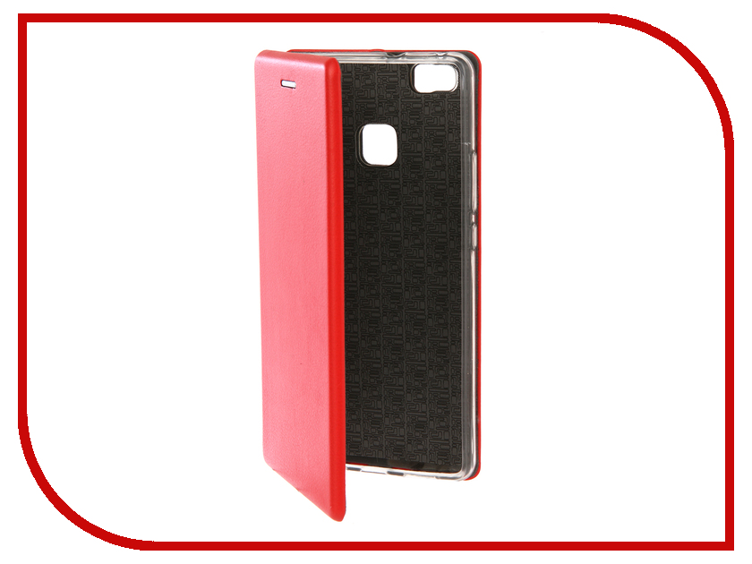 Аксессуар Чехол для Huawei P9 Lite Innovation Book Silicone Red 12184