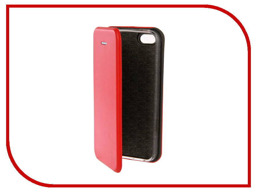 Аксессуар Чехол Innovation Book Silicone для APPLE iPhone 5G/5S/5SE Red 12138 аксессуар чехол innovation jeans для apple iphone 7 8 white 10774