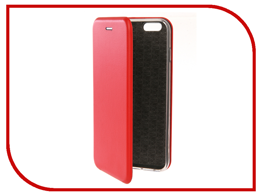 Аксессуар Чехол Innovation Book Silicone для APPLE iPhone 6/6S Plus Red 12141 чехол apple leather case для iphone 6 6s plus