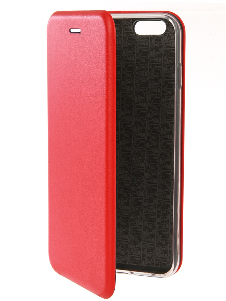 Аксессуар Чехол Innovation для APPLE iPhone 6 Plus / 6S Plus Book Silicone Red 12141 аксессуар чехол книжка momax elite case для iphone 6 plus fdapip6lbd red