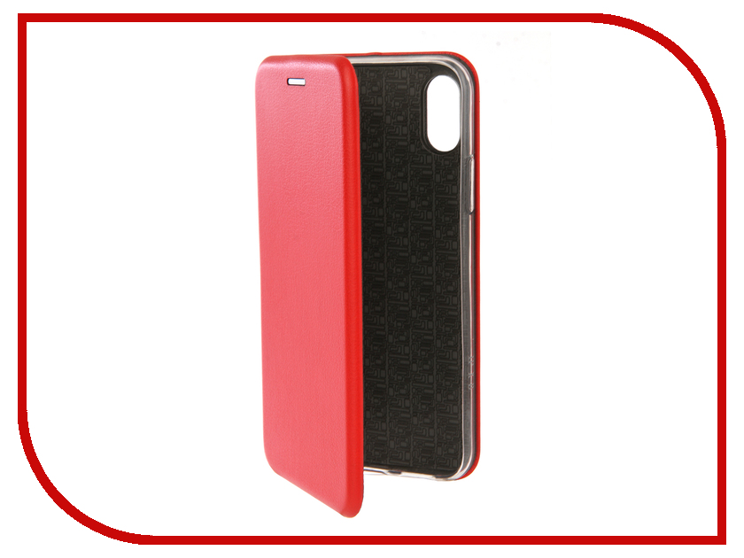 Аксессуар Чехол Innovation Book Silicone для APPLE iPhone 7/8 Red 12140 аксессуар чехол накладка smarterra marshmallow cover red для apple iphone 7 mmcip7rd