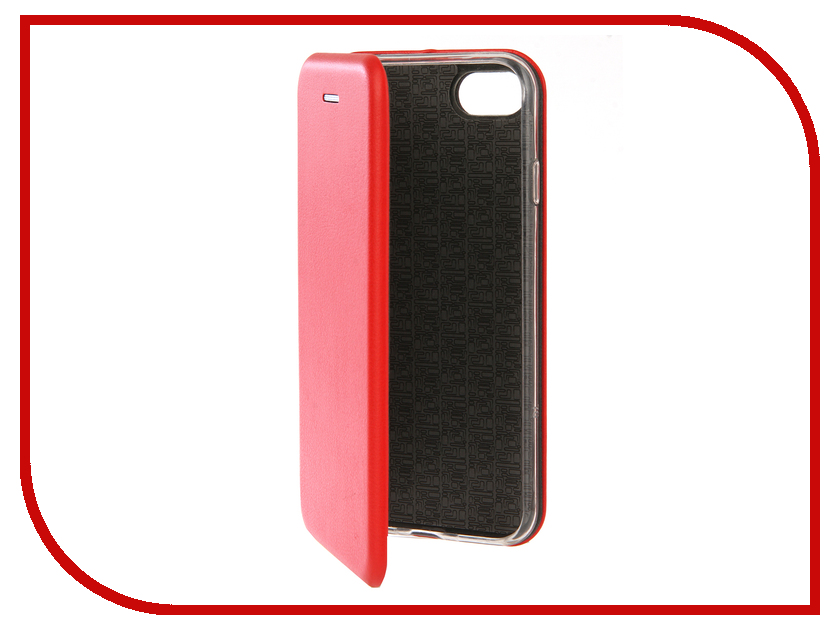 Аксессуар Чехол Innovation Book Silicone для APPLE iPhone 7 Plus Red 12142 аксессуар чехол innovation jeans для apple iphone 7 8 red 10776