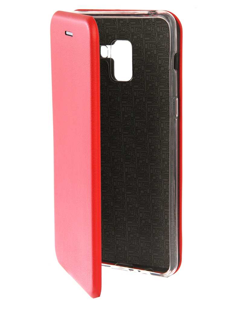Аксессуар Чехол для Samsung Galaxy A8 Plus Innovation Book Silicone Red 12157