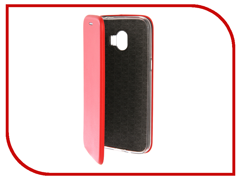 Аксессуар Чехол для Samsung Galaxy J2 2018 Innovation Book Silicone Red 12175 аксессуар чехол для samsung galaxy a5 2017 innovation silicone coral 10646