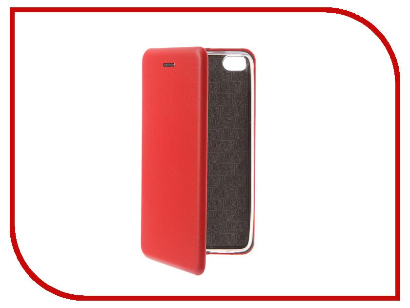 Аксессуар Чехол-книга для Xiaomi Mi5S Innovation Book Silicone Red 12197 аксессуар чехол для samsung galaxy a5 2017 innovation book silicone red 12147