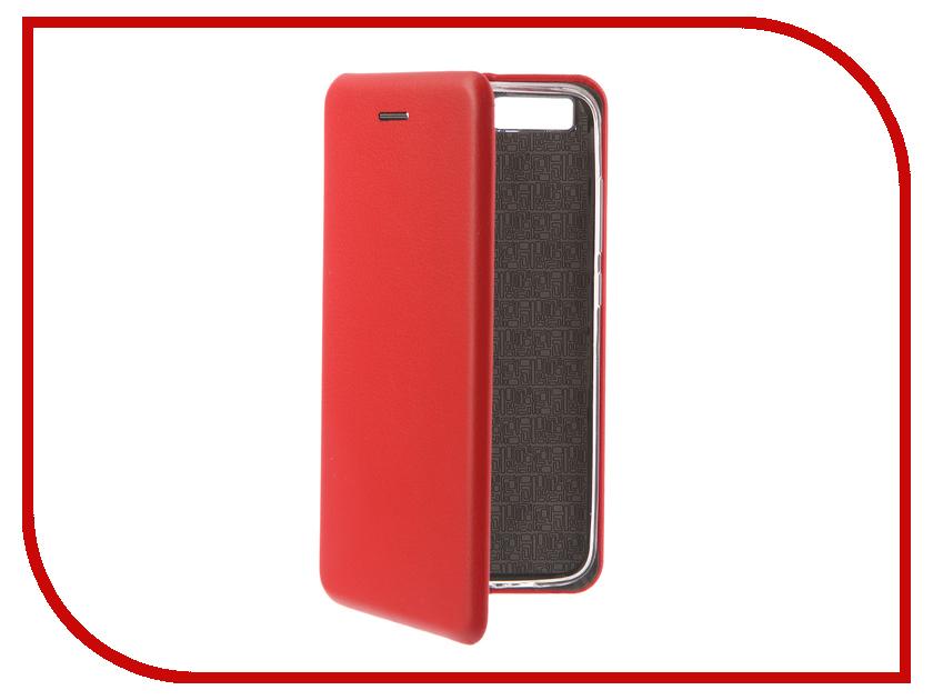 Аксессуар Чехол-книга для Xiaomi Mi6 Innovation Book Silicone Red 12198 аксессуар чехол xiaomi mi6 with love moscow black 10224