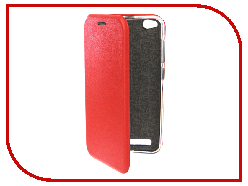 Аксессуар Чехол для Xiaomi Redmi 5A Innovation Book Silicone Red 12178 аксессуар чехол книга для xiaomi mi 8 book innovation book silicone red 12482