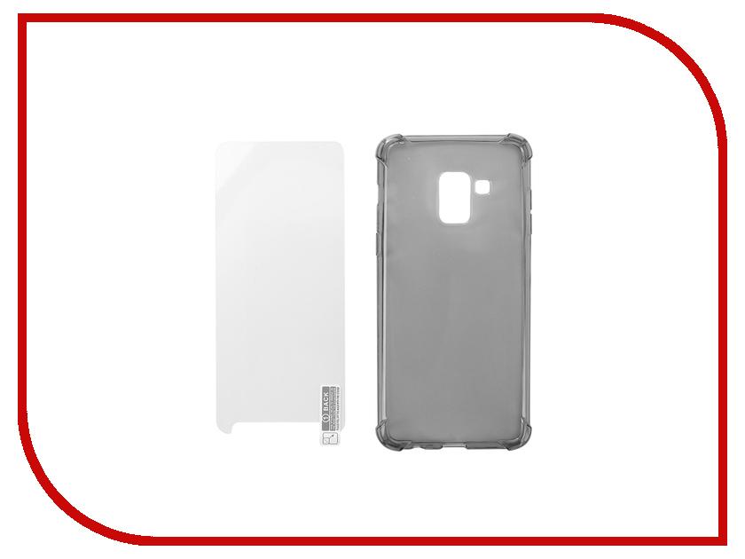 Аксессуар Чехол + защитное стекло для Samsung Galaxy A5 2018 Innovation Silicone Black 11788 form kettle six