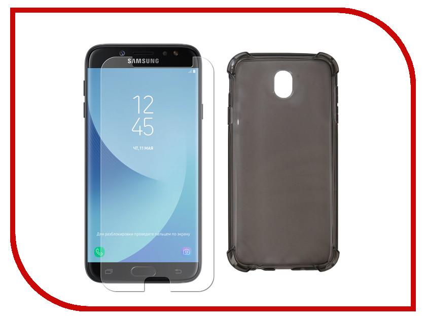 Купить Аксессуар Чехол + защитное стекло Innovation для Samsung Galaxy J7 2017 Silicone Black 11796
