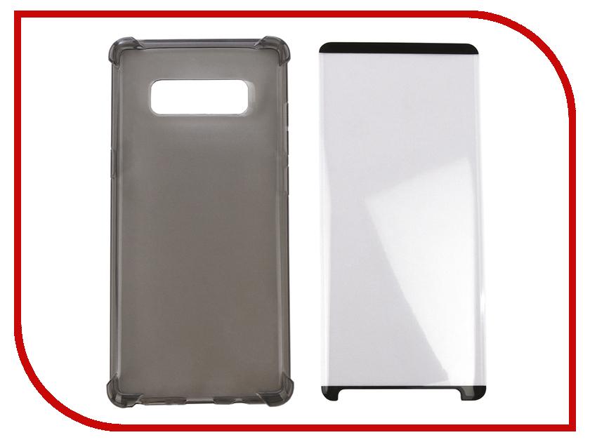 Аксессуар Чехол + защитное стекло для Samsung Galaxy Note 8 Innovation Silicone Black 11790