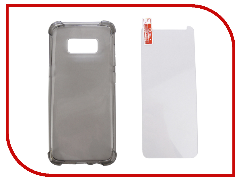 Купить Аксессуар Чехол + защитное стекло для Samsung Galaxy S8 Innovation Silicone Black 11785