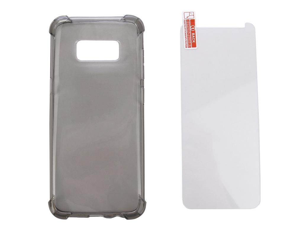 Аксессуар Чехол + защитное стекло Innovation для Samsung Galaxy S8 Silicone Black 11785 браслет alexander tsiselsky alexander tsiselsky mp002xw0iti1