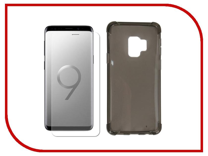 Аксессуар Чехол + защитное стекло для Samsung Galaxy S9 Innovation Silicone Black 11786 аксессуар чехол для samsung galaxy a5 2017 innovation silicone green 10645
