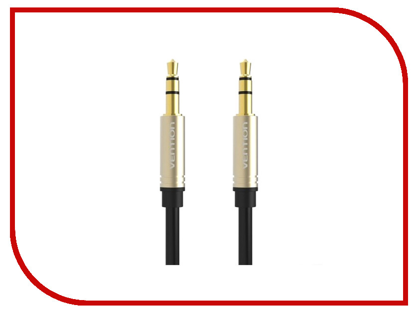 Аксессуар Vention Jack 3.5mm M/Jack 3.5mm M 1m Black P360AC-B100