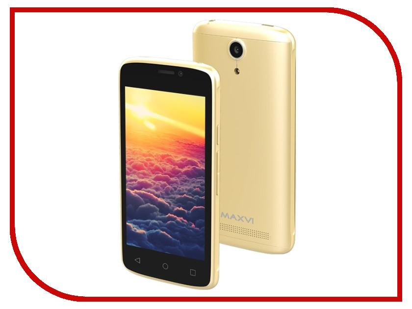 Сотовый телефон Maxvi MS401 Sunrise Gold сотовый телефон maxvi p15 gold