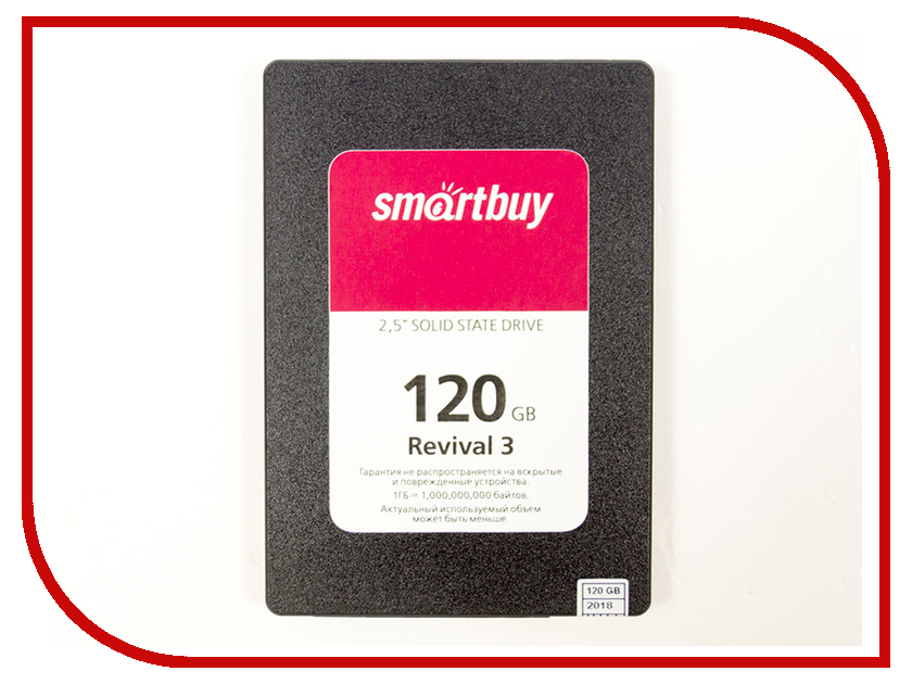 Жесткий диск SmartBuy Revival 3 120 GB (SB120GB-RVVL3-25SAT3) жесткий диск 120gb smartbuy revival 2 sb120gb rvvl2 25sat3