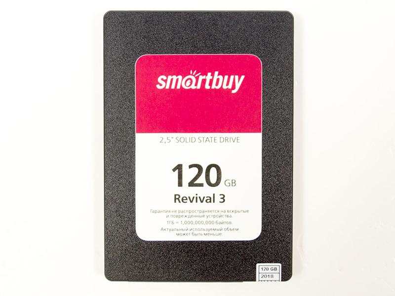 Твердотельный накопитель SmartBuy Revival 3 120 GB (SB120GB-RVVL3-25SAT3) жесткий диск ssd 120гб smartbuy ignition plus sb120gb ignp 25sat3