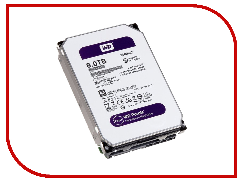 Жесткий диск 8Tb - Western Digital Purple WD81PURZ цены