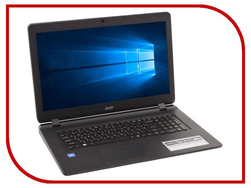 Ноутбук Acer Aspire ES1-732-C1LN Black NX.GH4ER.014 (Intel Celeron N3350 1.1 GHz/4096Mb/500Gb/Intel HD Graphics/Wi-Fi/Bluetooth/Cam/17.3/1600x900/Windows 10 Home 64-bit) цена и фото