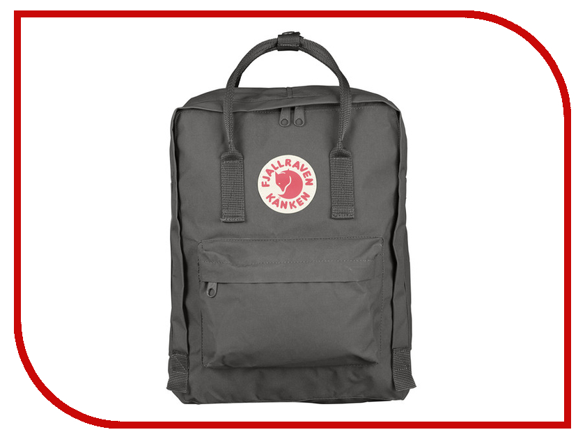 Рюкзак Fjallraven Kanken Super Grey 23510-046 ремень fjallraven fjallraven canvas money belt темно серый onesize