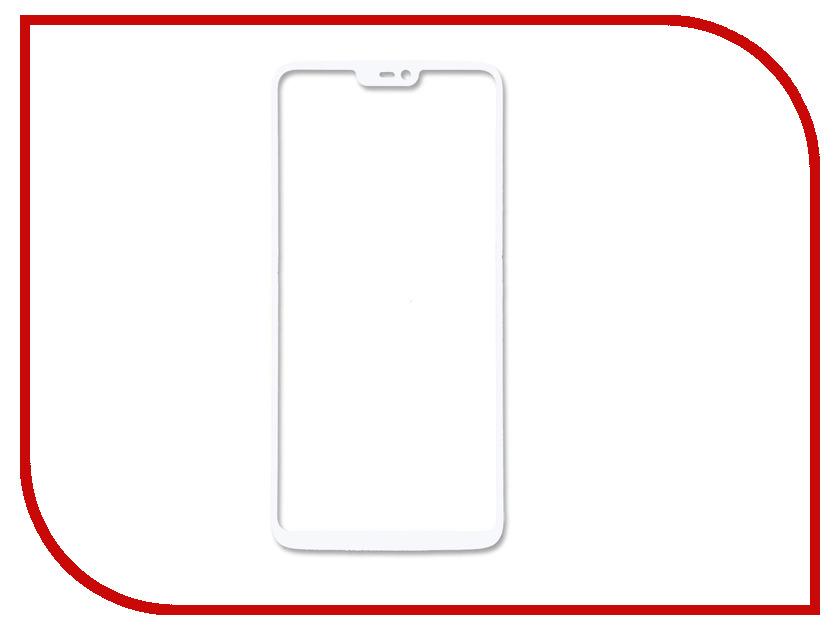 Аксессуар Защитное стекло для One Plus 6 Snoogy Full Glass White Sn-TG-FG-ONE-plus6-wht