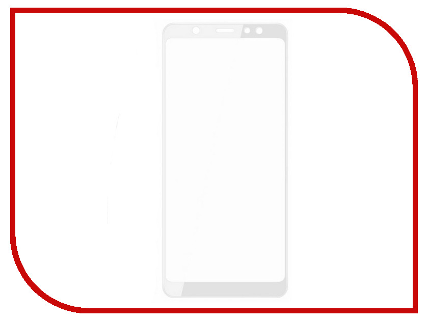 Аксессуар Защитное стекло для Samsung Galaxy A6 2018 Snoogy Full Glass 0.33mm White Sn-TG-FG-SA6/2018/- wht защитное стекло для samsung galaxy tab e 9 6 inter step is tg samgtae96 000b202