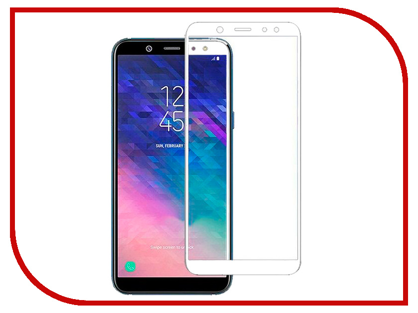 Аксессуар Защитное стекло для Samsung Galaxy A6 Plus 2018 Snoogy Full Glass 0.33mm White Sn-TG-FG-SA6plus/2018/-wht защитное стекло для samsung galaxy tab e 9 6 inter step is tg samgtae96 000b202