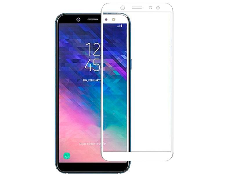 Защитное стекло Snoogy для Samsung Galaxy A6 Plus 2018 Full Glass 0.33mm White Sn-TG-FG-SA6plus/2018/-wht