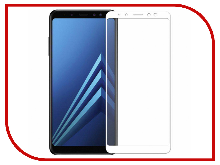 Аксессуар Защитное стекло для Samsung Galaxy A7 2018 / А8 Plus Snoogy Full Glass 0.33mm White Sn-TG-FG-SA7/2018/А8plus -wht аксессуар защитное стекло для samsung galaxy a6 plus 2018 snoogy full glass 0 33mm black sn tg fg sa6plus 2018 blk