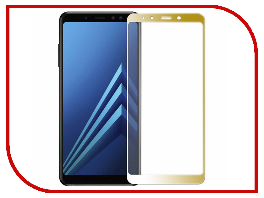 Аксессуар Защитное стекло для Samsung Galaxy A7 2018 / А8 Plus Snoogy Full Glass 0.33mm Gold Sn-TG-FG-SA7/2018/A8plus-gold аксессуар защитное стекло для samsung galaxy a6 plus 2018 snoogy full glass 0 33mm black sn tg fg sa6plus 2018 blk