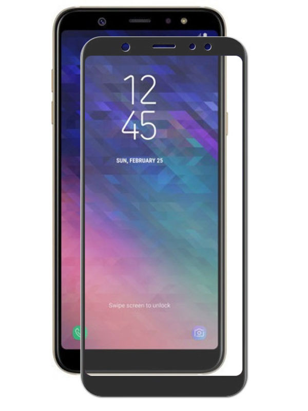 Аксессуар Защитное стекло для Samsung Galaxy A6 2018 Ubik 3D Black 3192 c c edwards ti 83 plus graphing calculator for dummies