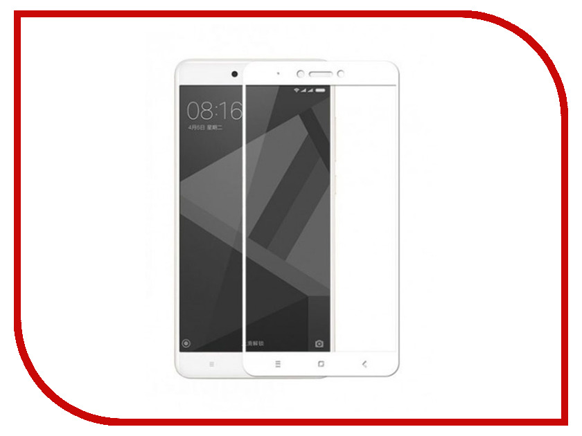 Аксессуар Защитное стекло для Xiaomi Redmi Note 4 X Ubik 3D White 3120 new 7 inch touch screen with digitizer panel front glass for dell t01c venue 7 3730 free shipping