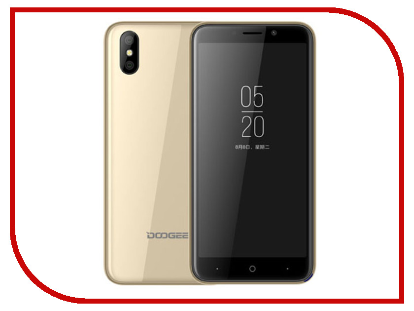 Сотовый телефон DOOGEE X50 Gold original view window leather case for doogee turbo mini f1
