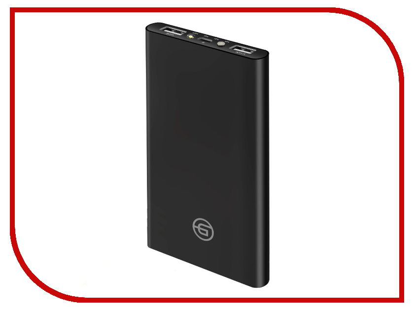 Аккумулятор Ginzzu Power Bank 10000mAh Black GB-3910B аккумулятор для ибп ginzzu gb 1290
