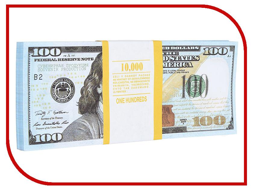 Блокнот СмеХторг Пачка 100 долларов светящиеся палочки браслеты смехторг 100 штук