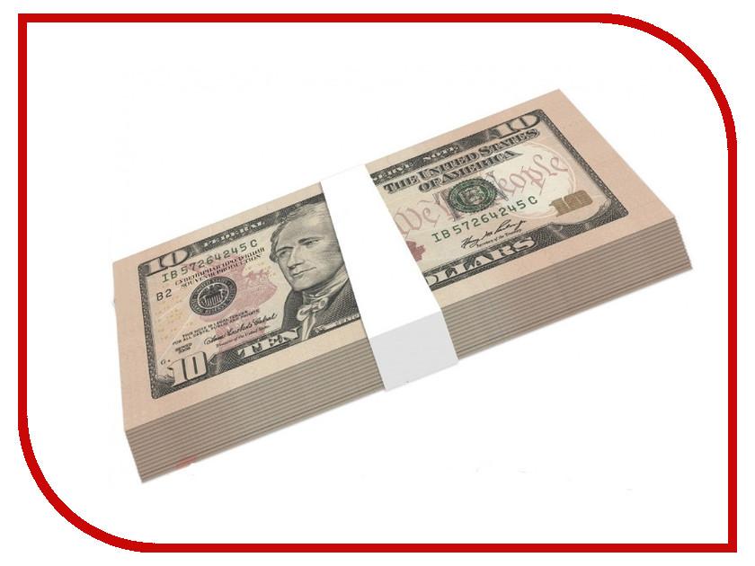 Шуточные купюры СмеХторг бабки 10 баксов пачка 100 шт
